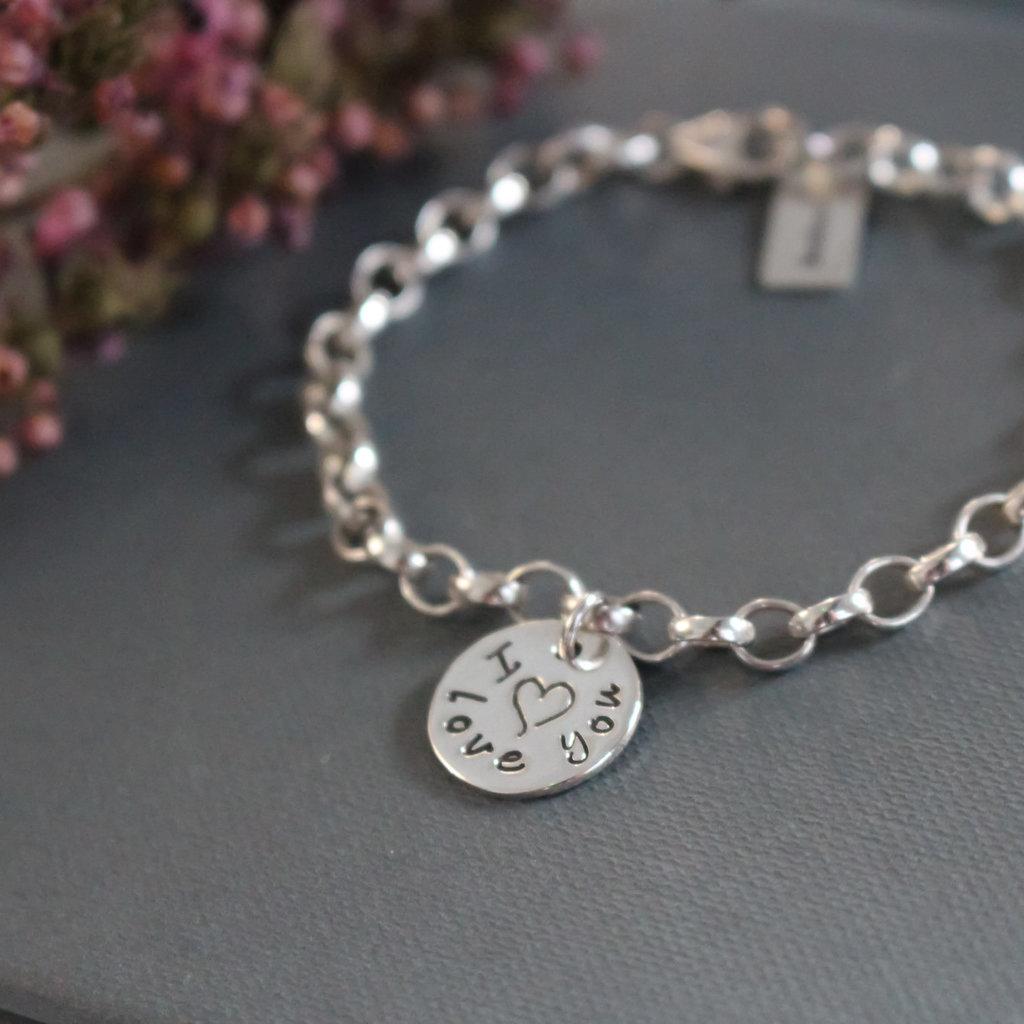 Love Silver Poem Bracelet