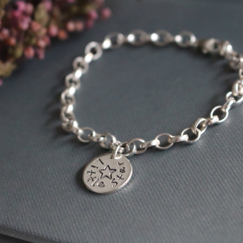 Star Silver Poem Bracelet