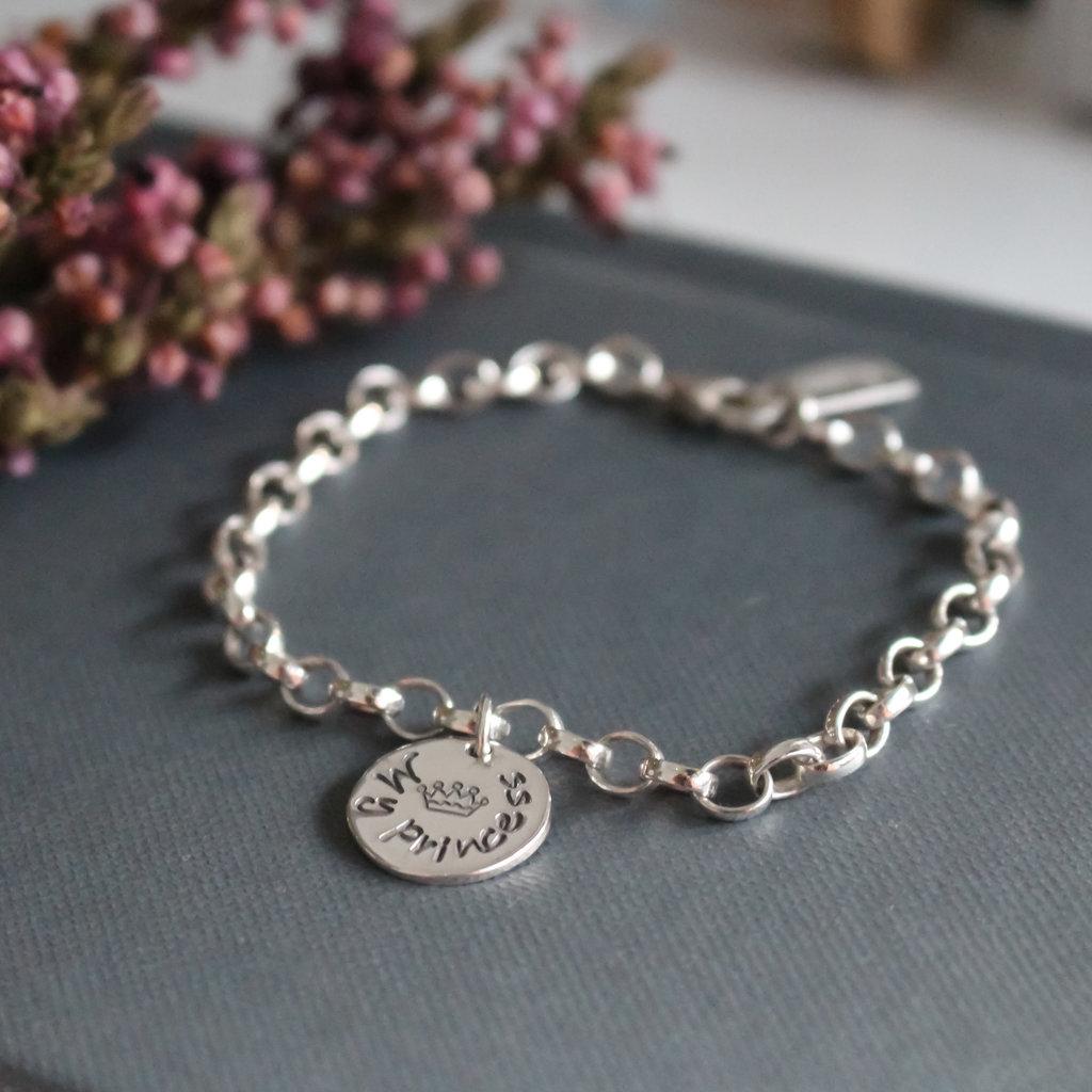 Princess Silver Poem Bracelet