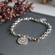 Joulberry Princess Silver Poem Bracelet