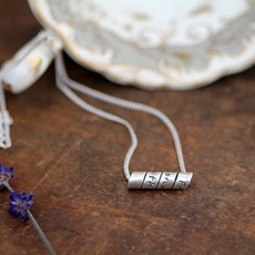 Joulberry London Open Scroll Poem Necklace