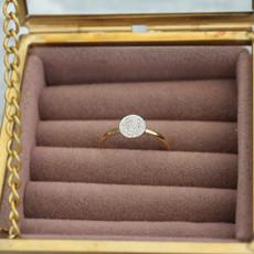 Gold Monique Circular Diamond Ring