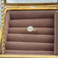 Joulberry Gold Monique Circular Diamond Ring