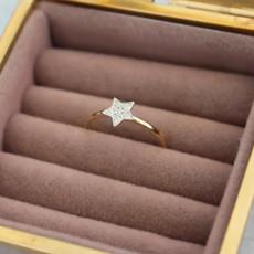 Joulberry Gold Monique Star Diamond Ring