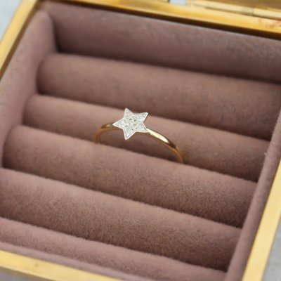 Joulberry Gold Monique Star Diamond Ring