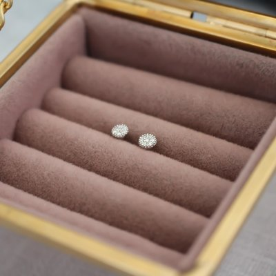 Joulberry Monroe White Gold Diamond Cluster Diamond Studs