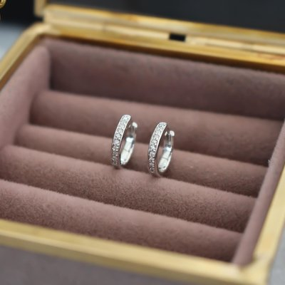 Monroe White Gold Diamond Pave Hoop Earrings