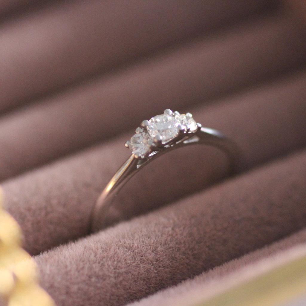 Platinum Diamond 0.30 ct Angelina Ring