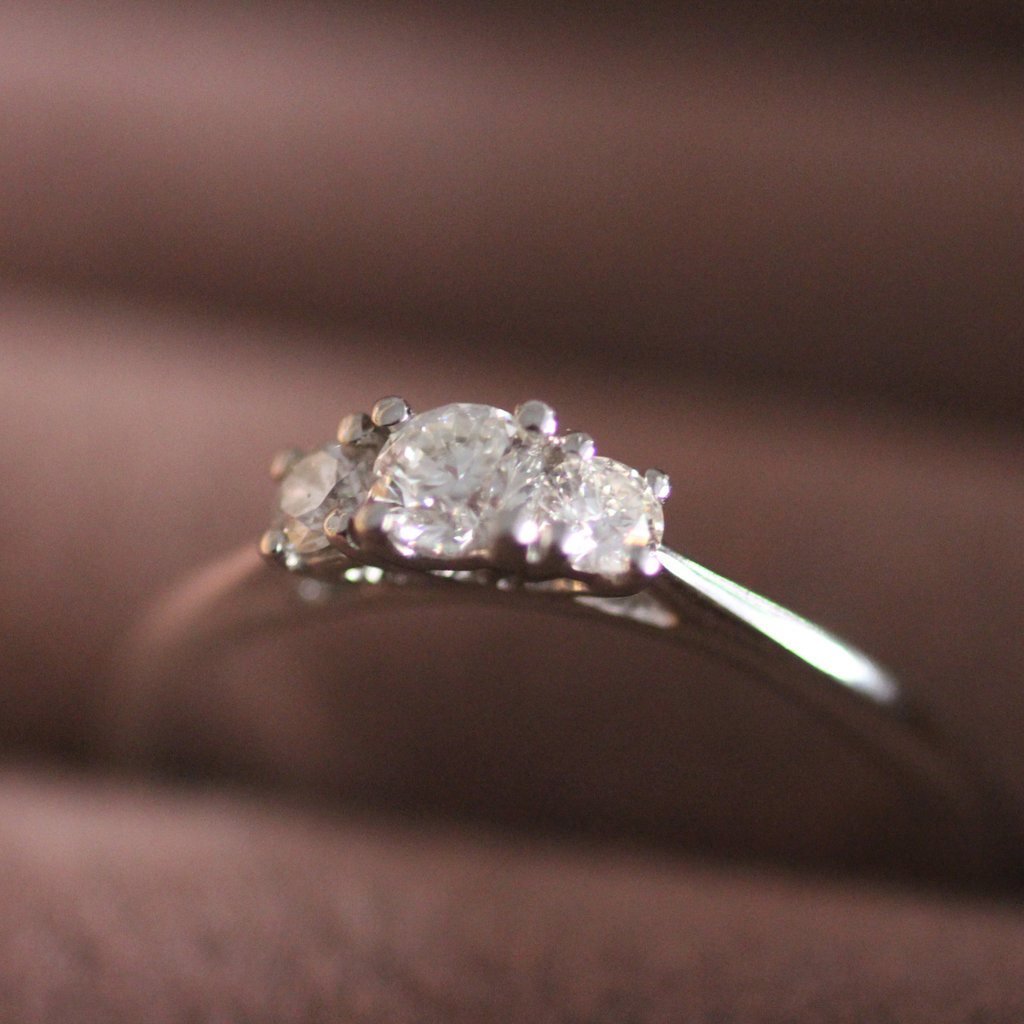 Joulberry Platinum Diamond 0.30 ct Angelina Ring