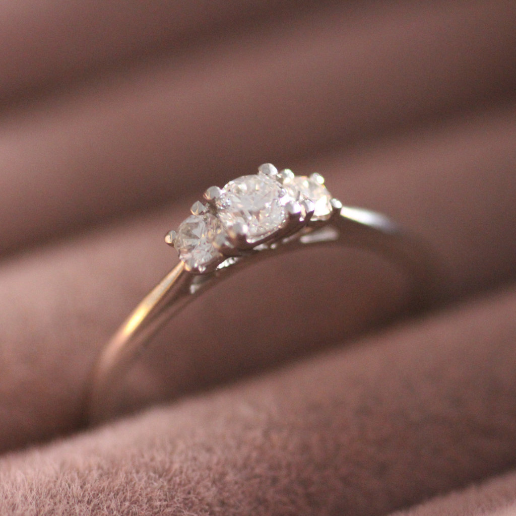 Platinum Diamond 0.28ct Angelina Ring