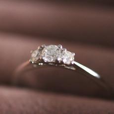 Joulberry Platinum Diamond 0.28 ct Angelina Ring