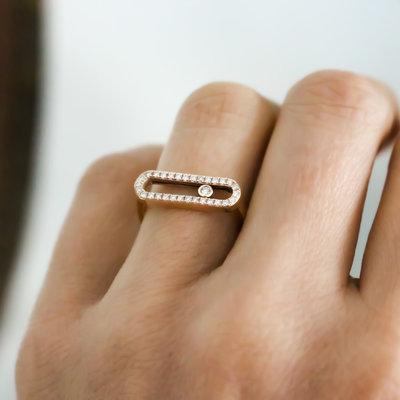 Gold Sliding Diamond Ring