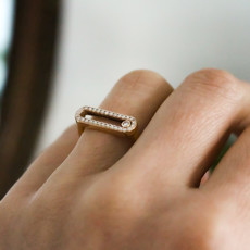 TATE Gold Sliding Diamond Ring