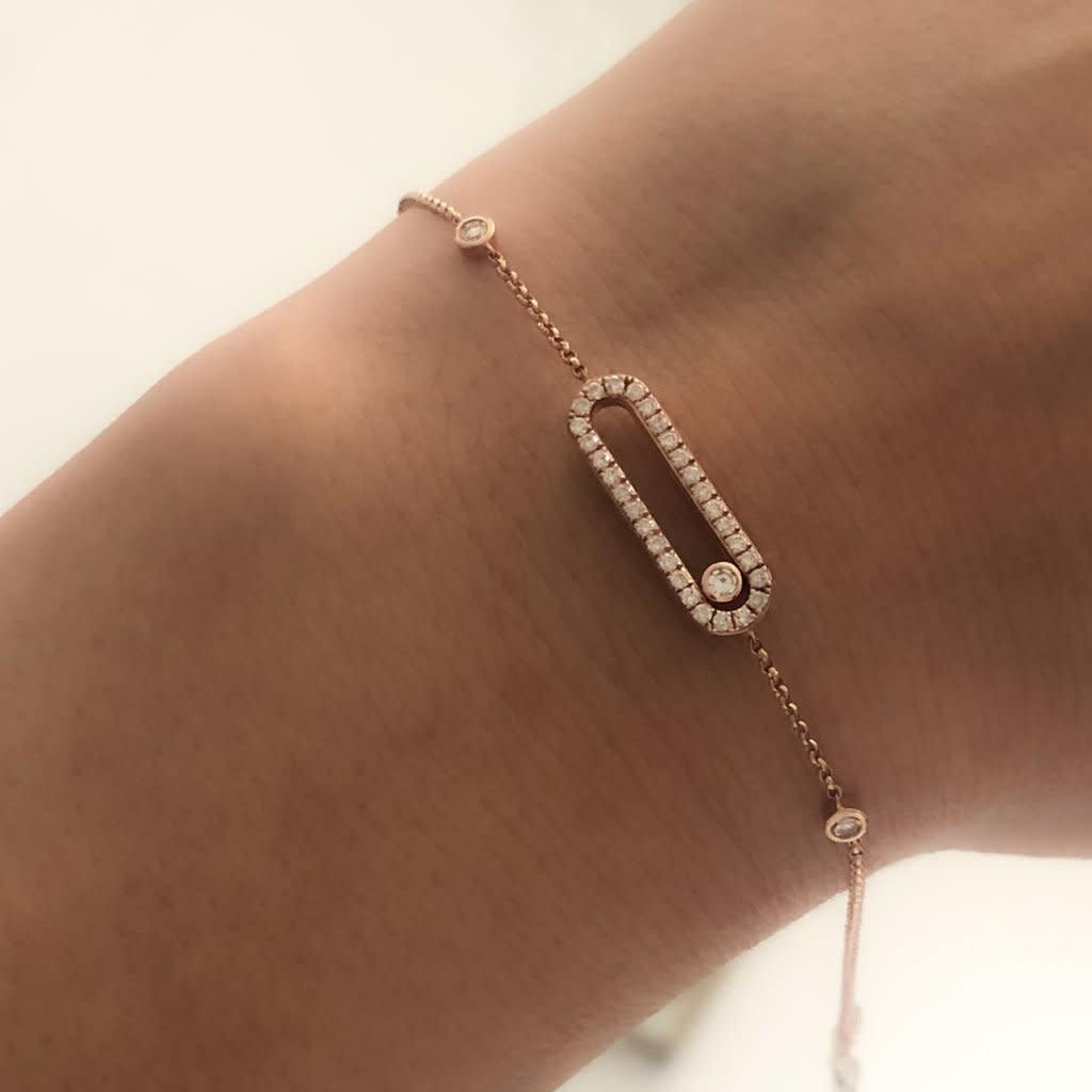 Joulberry Gold Sliding Diamond Bracelet