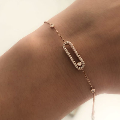 Joulberry Gold Sliding Diamond Bracelet