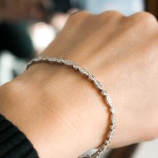 BARDOT White Gold Silhouette Tennis Bracelet 1.30ct