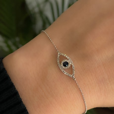 Joulberry * White Diamond and Sapphire Protection Bracelet