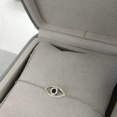 White Diamond and Sapphire Protection Bracelet