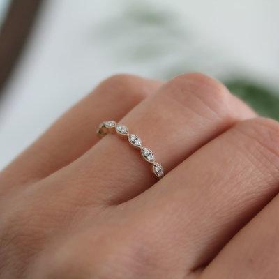 BLOSSOM Gold Lilac Diamond Ring