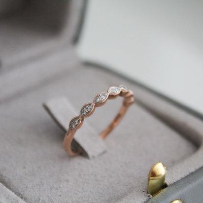 BLOSSOM Rose Gold Lilac  Diamond Ring