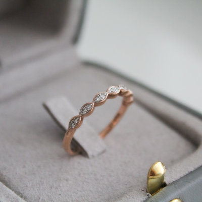 Rose Silhouette Diamond Ring