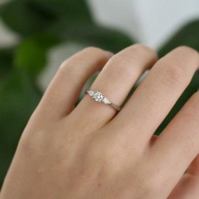 Platinum Diamond Nicolette Ring