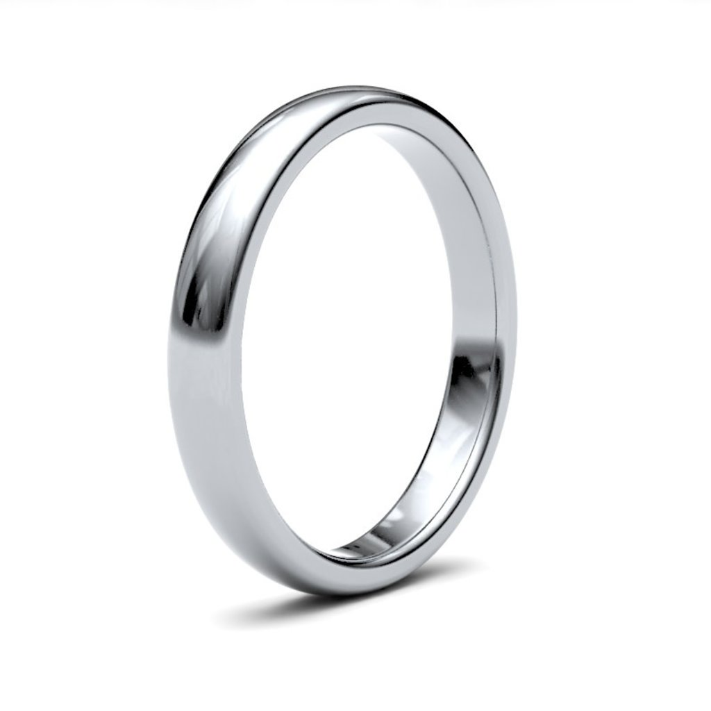 BONDD Platinum Ring 3mm