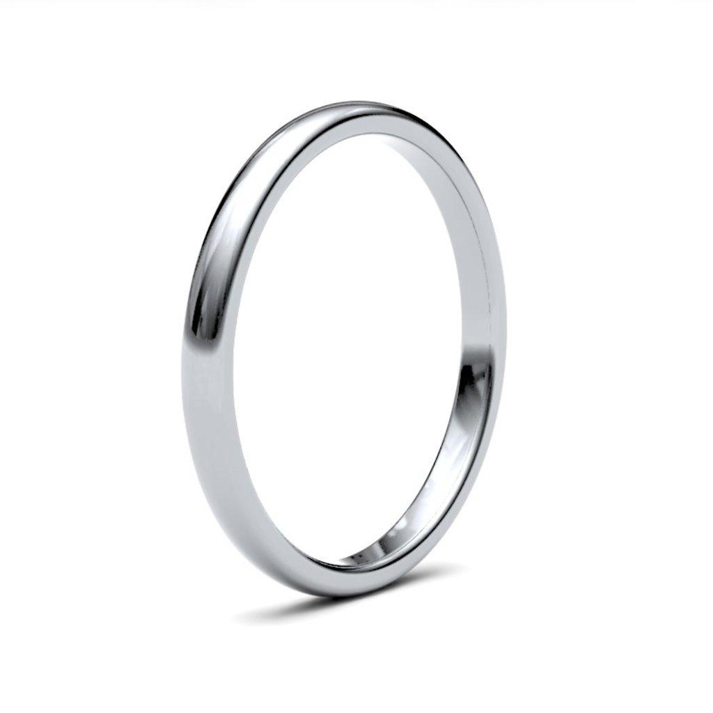 BOTANICA Platinum Ring 2mm