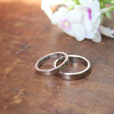 ESTELE Platinum Ring 4mm