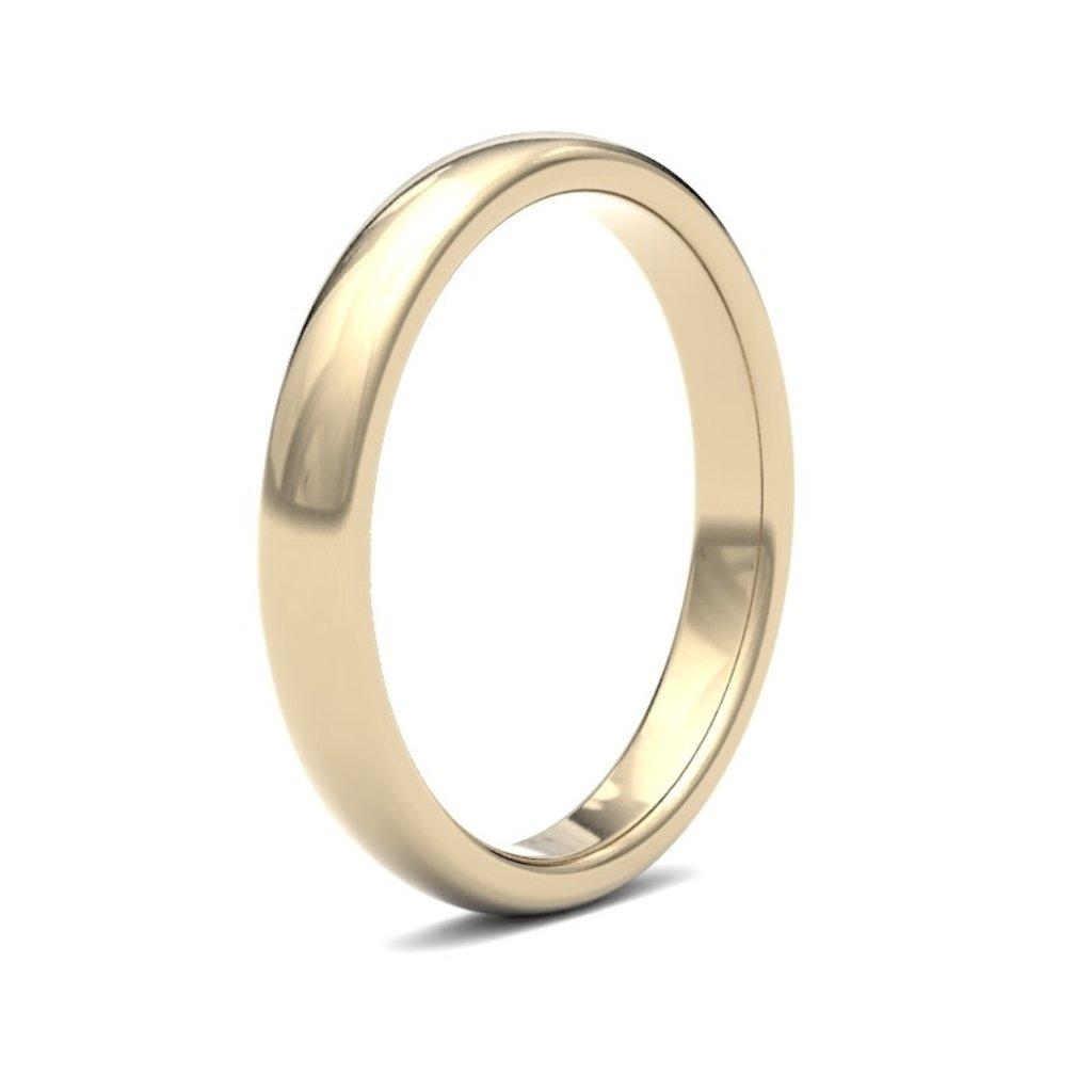 BONDD 18 Carat Gold Ring 3mm