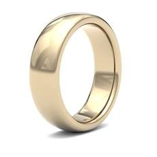 BONDD 18 Carat Gold Ring 6mm