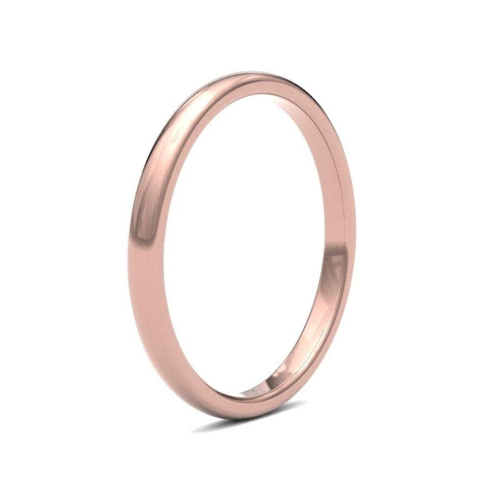 BOTANICA Rose Gold Ring 2mm