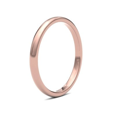 BOTANICA Rose Gold Ring 2mm
