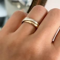 AMOR Tri Gold Russian Wedding Ring