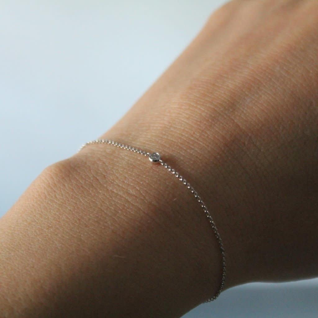 DAISY White Gold North Star Diamond Bracelet 0.07 ct
