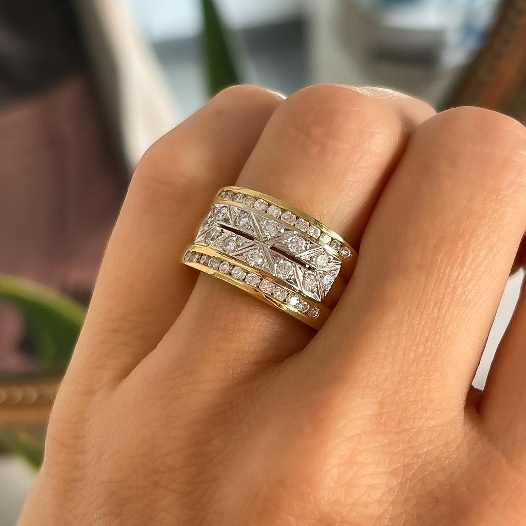 GATSBY Gold Diamond Miro Ring