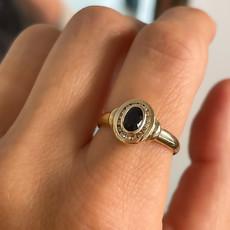 BOHO Gold Sapphire and Diamond Eva Ring