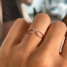 MONROE Annice Rose Gold Diamond Ring