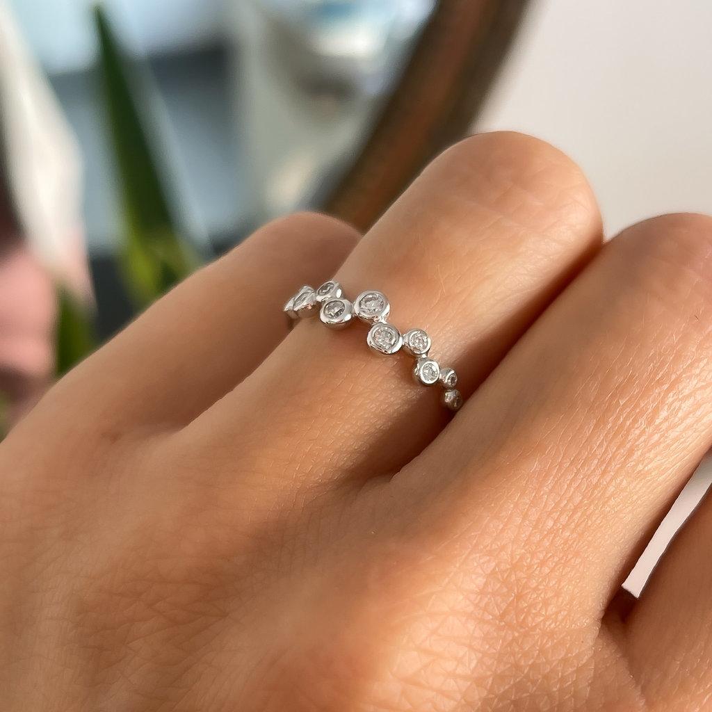 DAISY White Gold Analia Diamond Ring