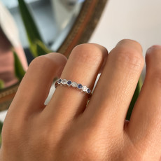 DAISY White Gold Sapphire & Diamond Ara Ring 0.40ct