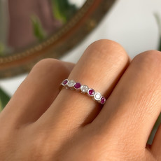 DAISY Gold Ruby & Diamond Ara Ring
