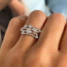 BARDOT White Gold Diamond Moet Ring 0.80ct