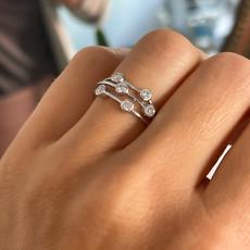 BARDOT White Gold Diamond Moet Ring 0.38ct