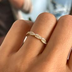 BOHO Gold Noora Twist Diamond Ring