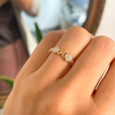 BOHO Gold  Diamond Lara Ring