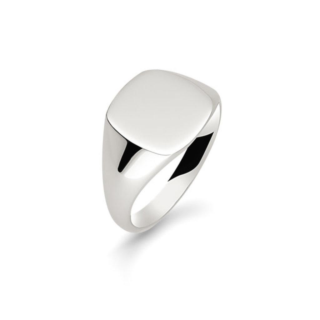 METRO Silver Cushion Signet Ring