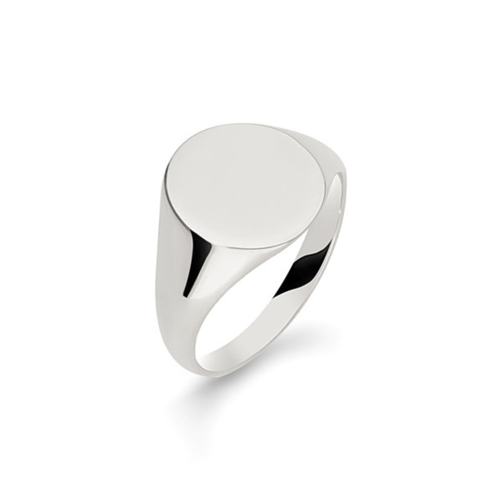 METRO Silver Oval Signet Ring