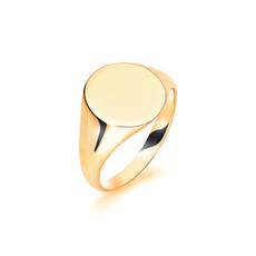 METRO Gold Oval Signet Ring