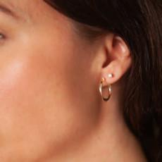 BOHO White Gold Flo Hoop Earrings