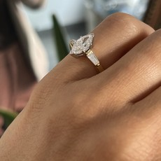 BLOSSOM Gold Skye Diamond Marquise Ring